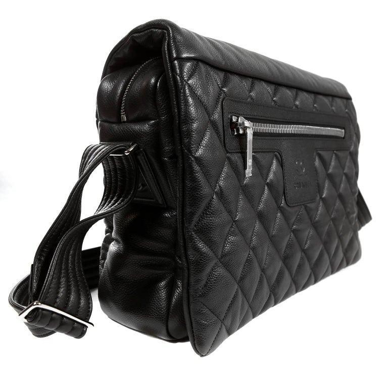 5d58a10b6b1ca4 Chanel Black Caviar Large Coco Cocoon Messenger Bag In New Condition For  Sale In Palm Beach