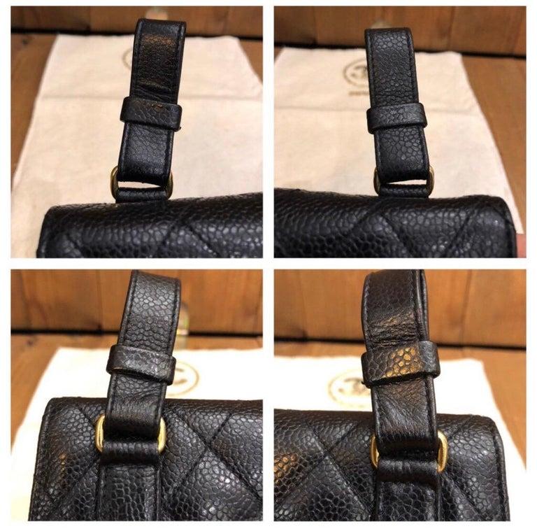 CHANEL Black Caviar Leather Belt Bag For Sale 1