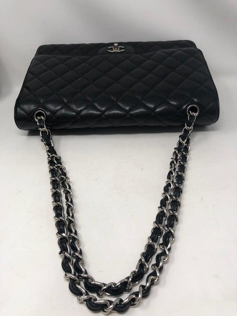 Chanel Black Caviar Leather Maxi Bag For Sale 1