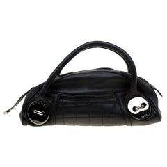 Chanel Black Caviar Leather Mini Bowler Bag