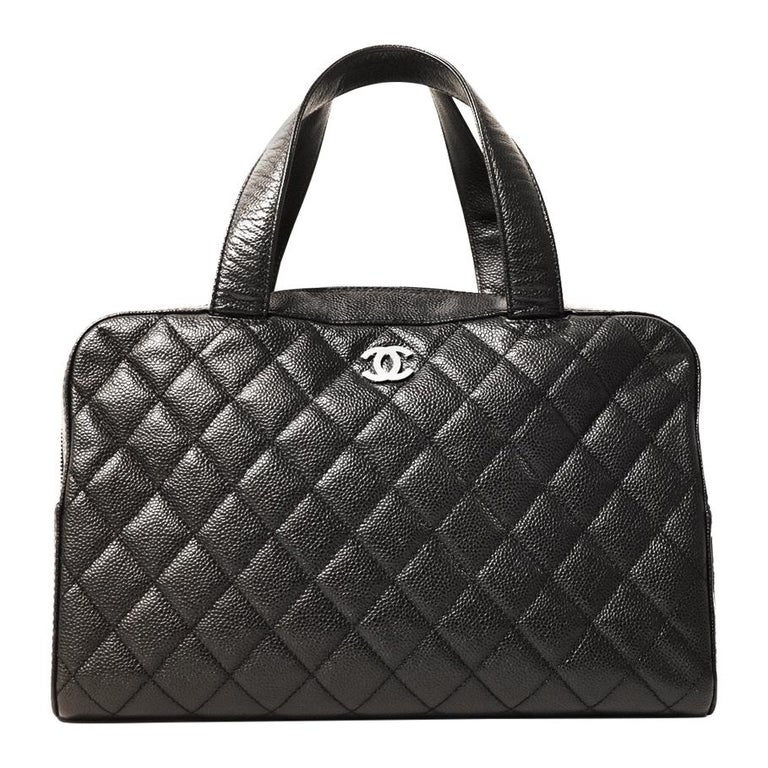 Chanel Black Caviar Leather Quilted Satchel