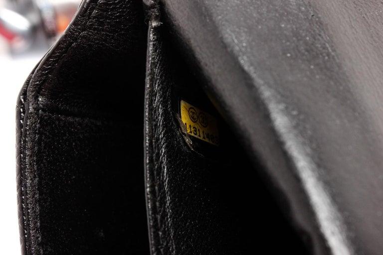 Chanel Black Caviar Leather Square Quilt Waist Flap Bag  For Sale 1