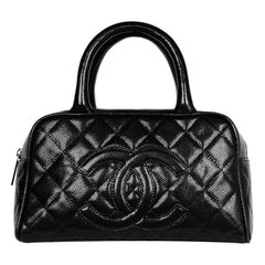 Chanel Black Caviar Leather Timeless CC Bowler Bag