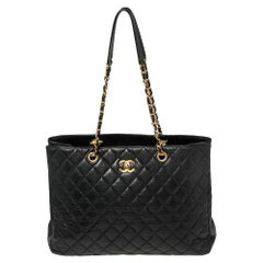 Chanel Black Caviar Leather Timeless Classic Shopper Tote