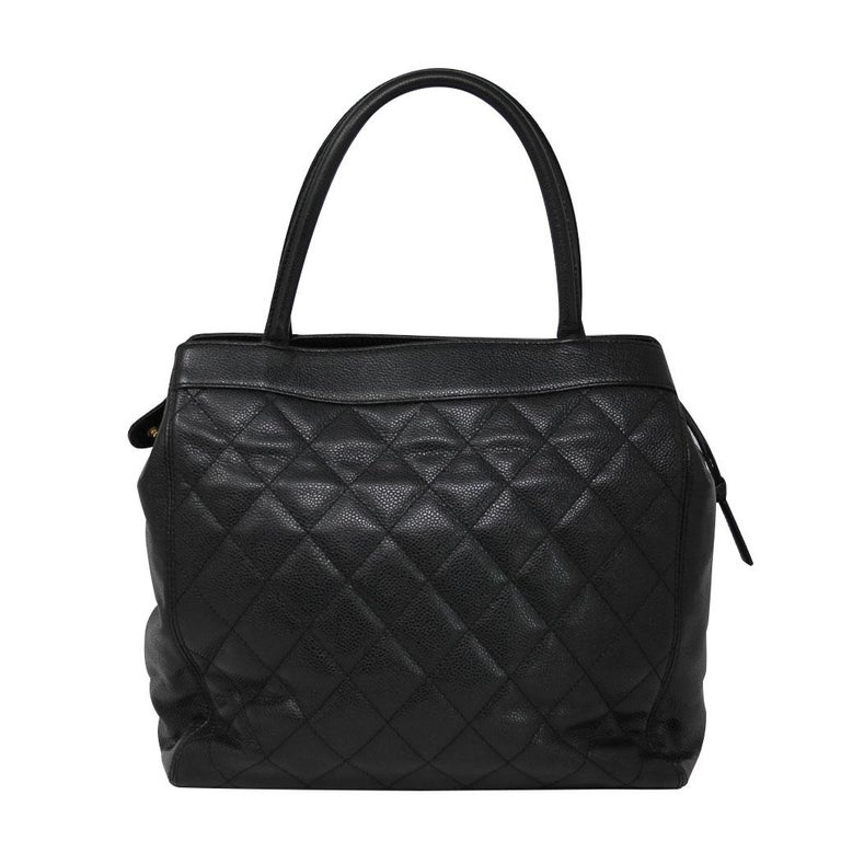 Brand: Chanel Handles: Black Rolled Leather Handles, Drop: 6