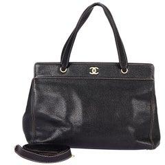 Chanel Black Caviar Shoulder Day Bag