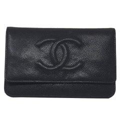 Chanel Black Caviar WOC Silver Hardware Handbag with Box and Tag