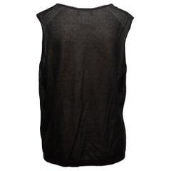Chanel Black CC Sleeveless Top