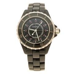 Chanel Black Ceramic J12 Women's Wristwatch 34 mm