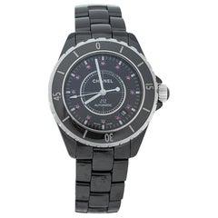 Chanel Black Ceramic Ruby J12 Automatic Women's Wristwatch 38 mm