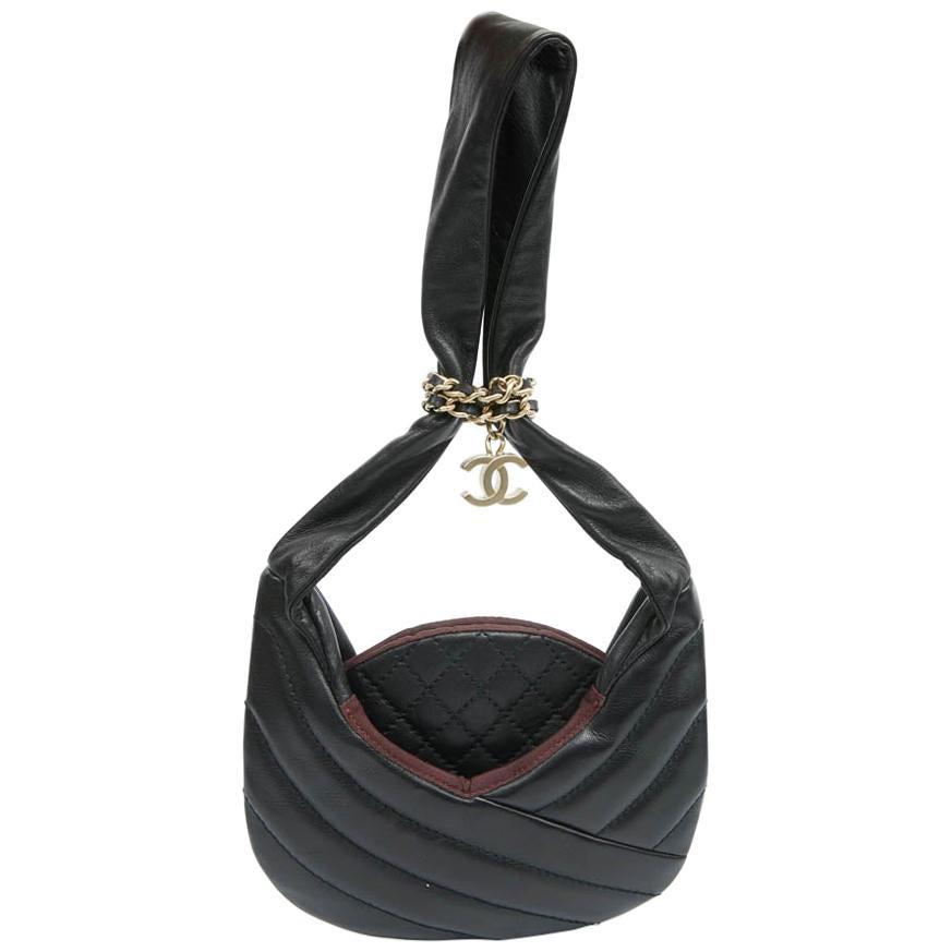 Chanel Black Chaplain Leather Bag
