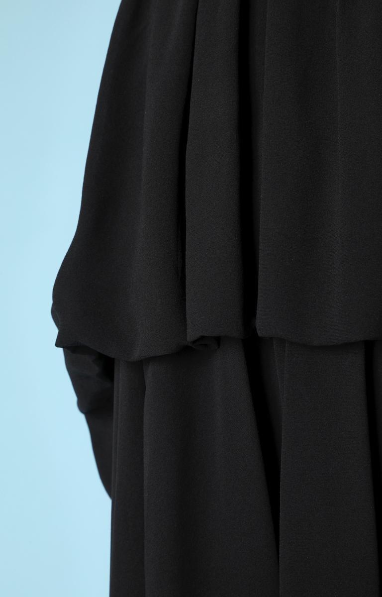 Black Chanel black chiffon dress For Sale