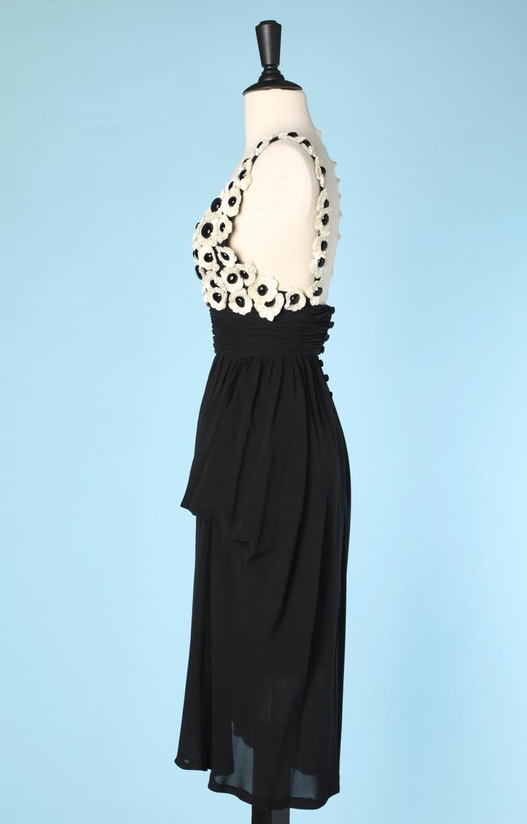 Women's Chanel black chiffon dress For Sale