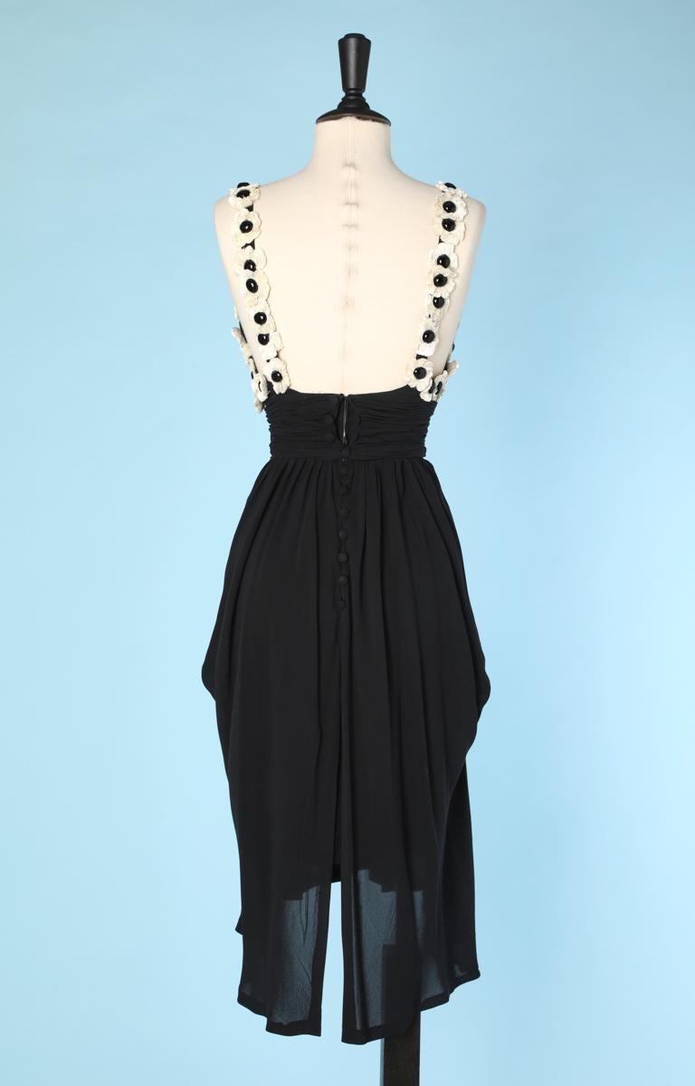 Chanel black chiffon dress For Sale 1