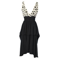 Chanel black chiffon dress
