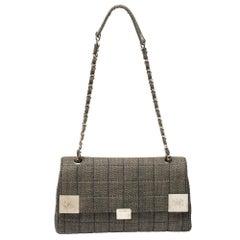 Chanel Black Chocolate Bar Quilted Denim CC Flap Chain Bag