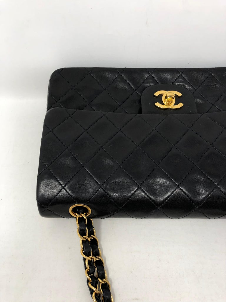 Women's or Men's Chanel Black Classic Double Flap  For Sale