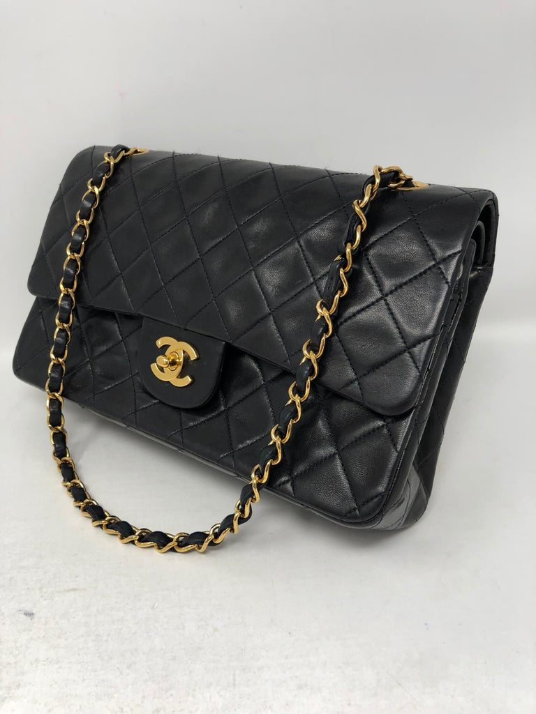 Chanel Black Classic Double Flap  For Sale 1