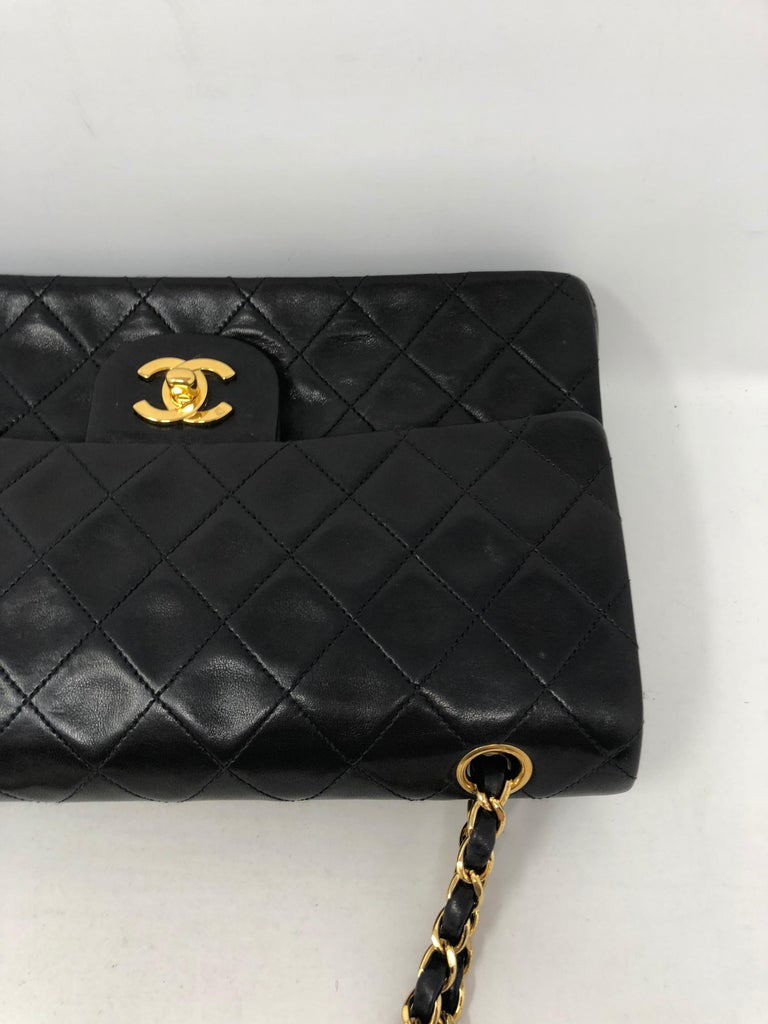 Chanel Black Classic Double Flap  For Sale 2