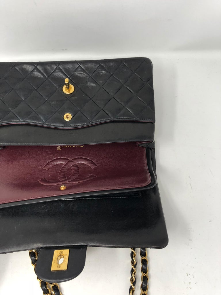 Chanel Black Classic Double Flap  For Sale 3