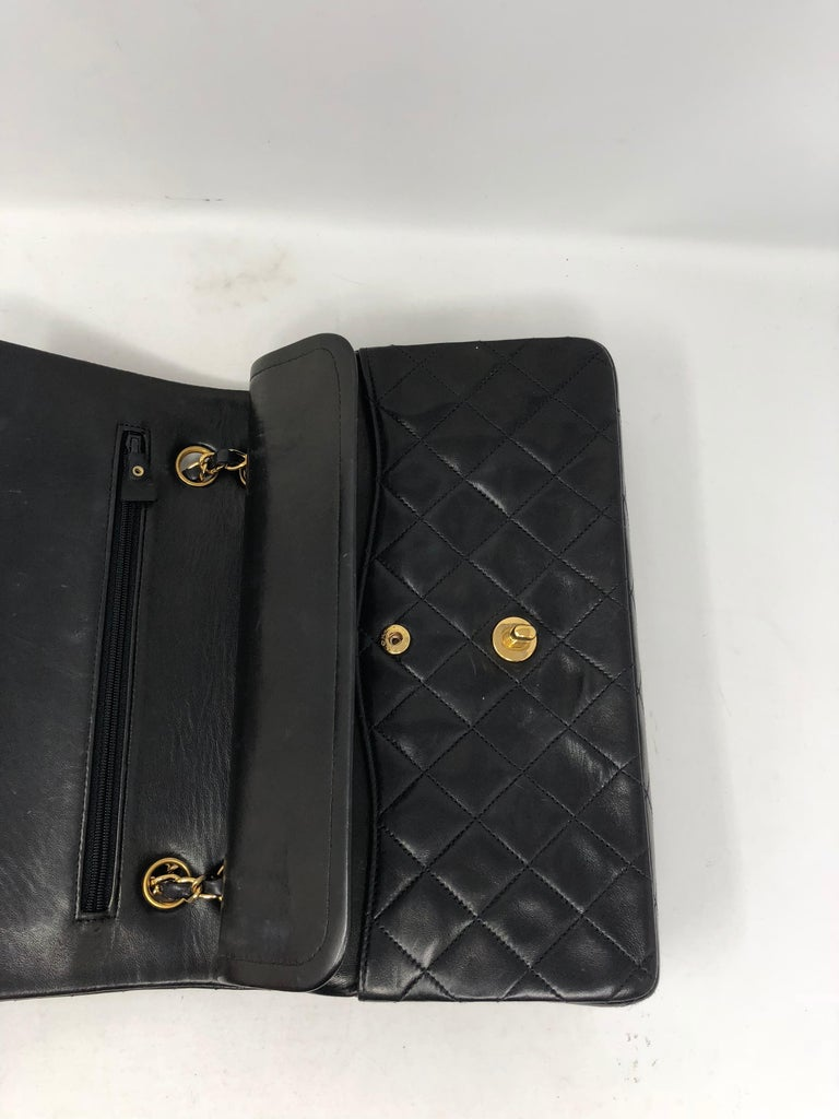 Chanel Black Classic Double Flap  For Sale 4