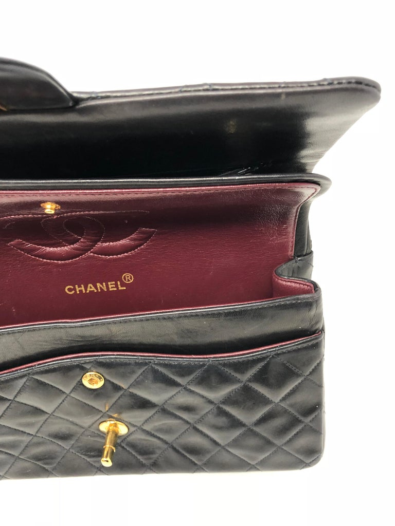 Chanel Black Classic Double Flap  For Sale 5