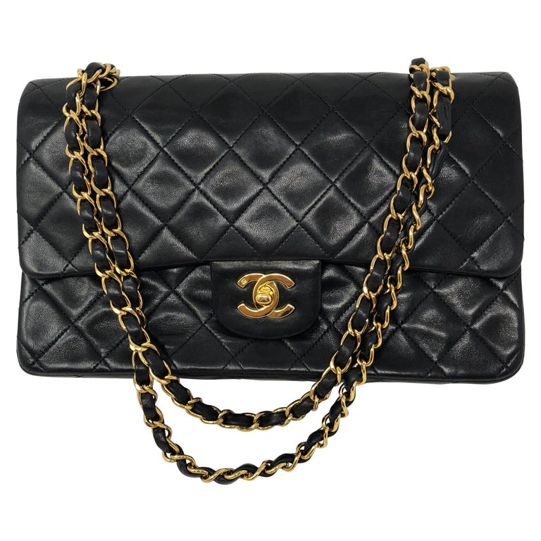 Chanel Black Classic Double Flap  For Sale