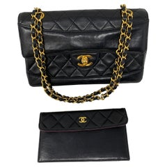 Chanel Black Classic Flap with Wallet Bag