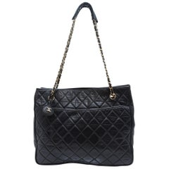 Chanel Black Classic Quilted Tote Bag