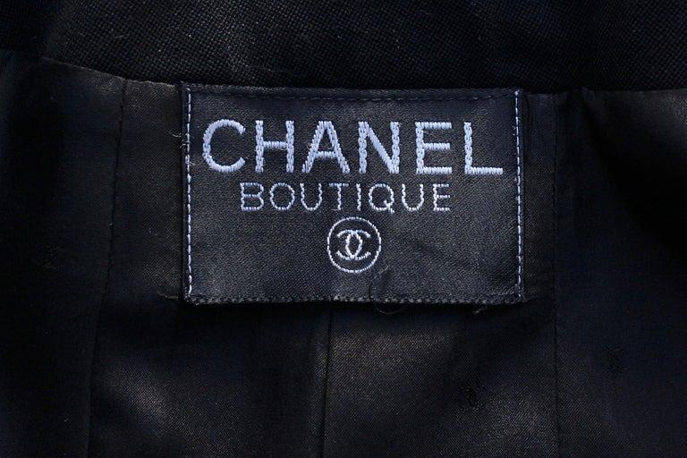 Chanel black cotton short jacket, 1990's   For Sale 2