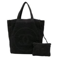 Chanel Black Cotton Tote