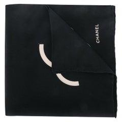 Chanel Black & Cream CC Logo Handkerchief