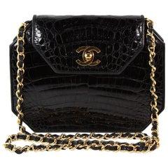 Chanel Black Crocodile Crossbody Bag