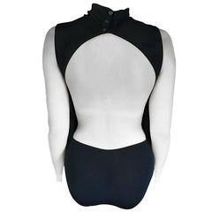 Chanel Black Cutout Back Swimsuit Bodysuit