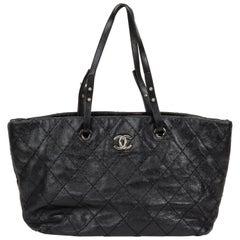 Chanel Black Glazed Caviar Shopper Tote