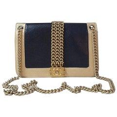Chanel Black Gold Chain Boy Bag