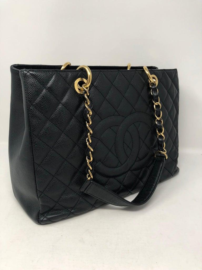 Chanel Black Grand Shopper Tote  In Good Condition For Sale In Athens, GA