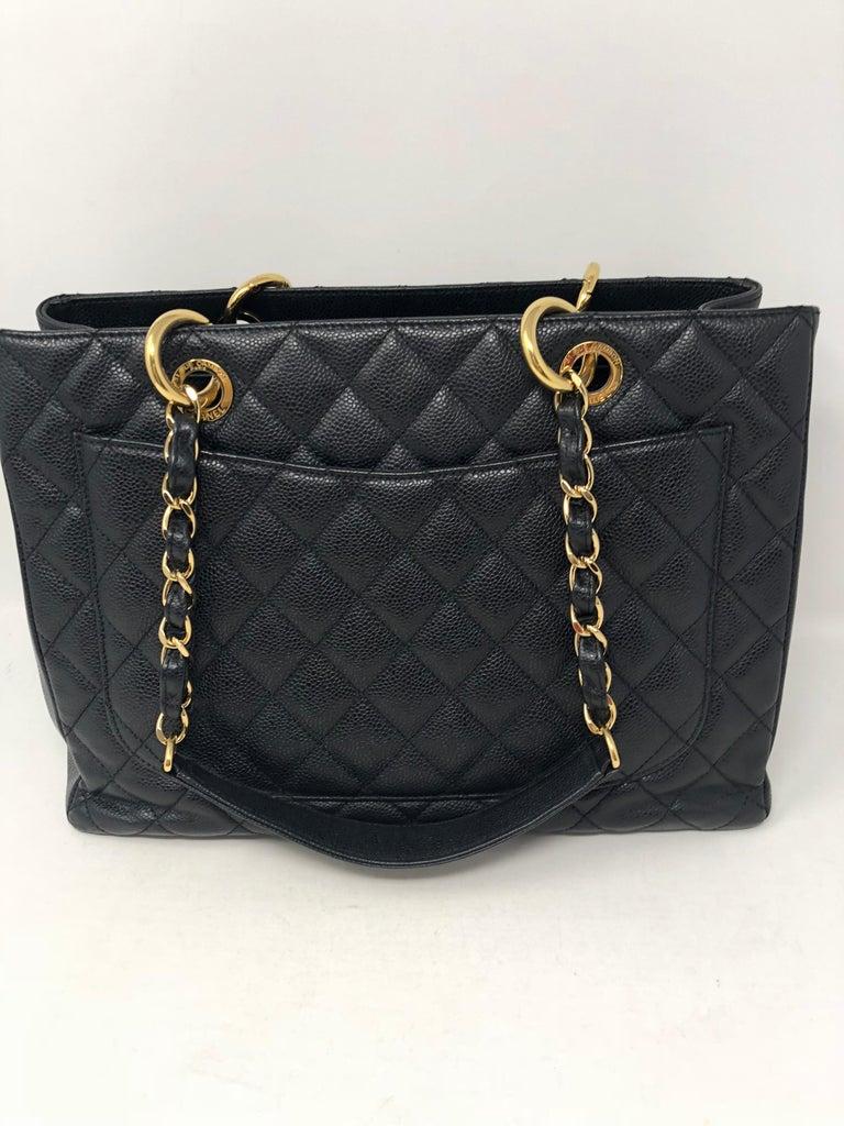 Women's or Men's Chanel Black Grand Shopper Tote  For Sale