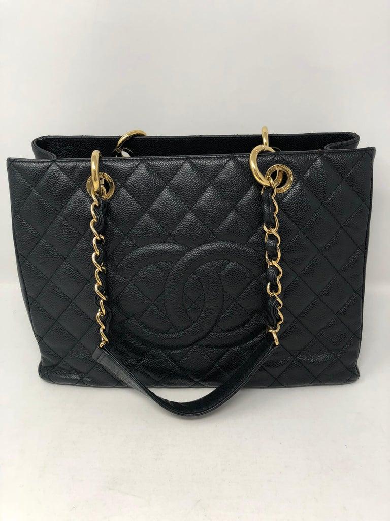 Chanel Black Grand Shopper Tote  For Sale 1