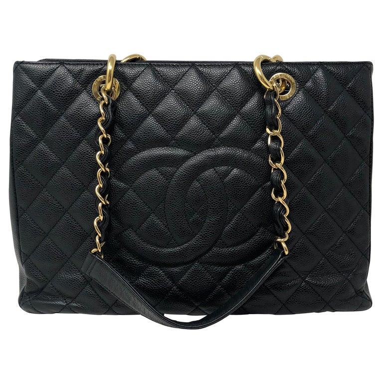 Chanel Black Grand Shopper Tote  For Sale