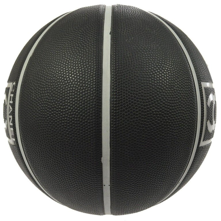 Women's or Men's Chanel Black Gray Collectible Novelty Toy Game Sport Men's Women's Basketball For Sale