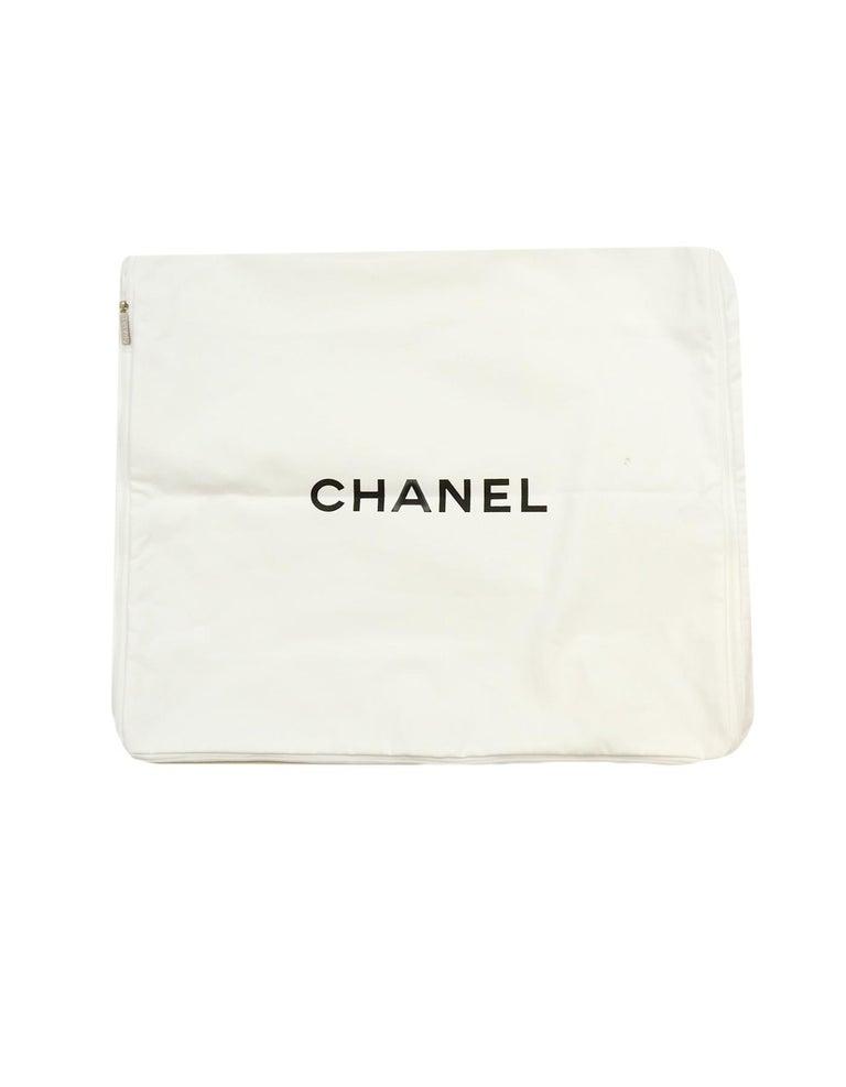 Chanel Black/Grey Merino Wool & Cashmere CC Throw Blanket For Sale 1