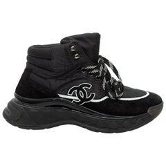 Chanel Black High-Top Platform CC Sneakers
