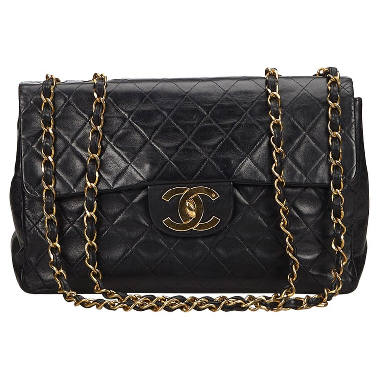 69f934449798 Chanel Black Jumbo Classic Single Flap Bag at 1stdibs