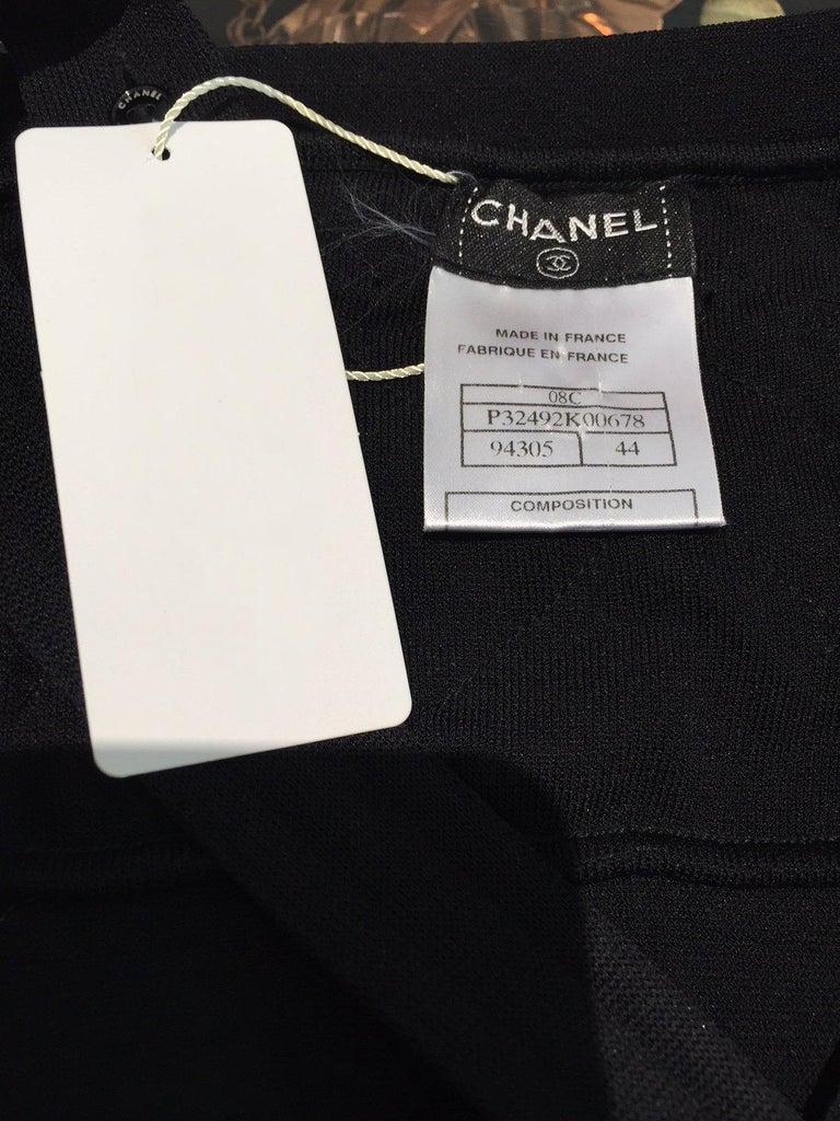Chanel Black Knit Maxi Dress For Sale 2