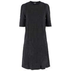 Chanel Black Knit Crochet Trim Dress US 6