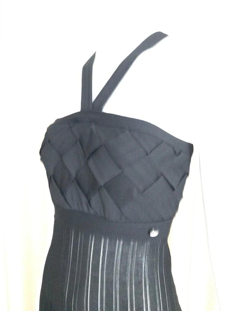 Chanel Black Knit Maxi Dress For Sale 6