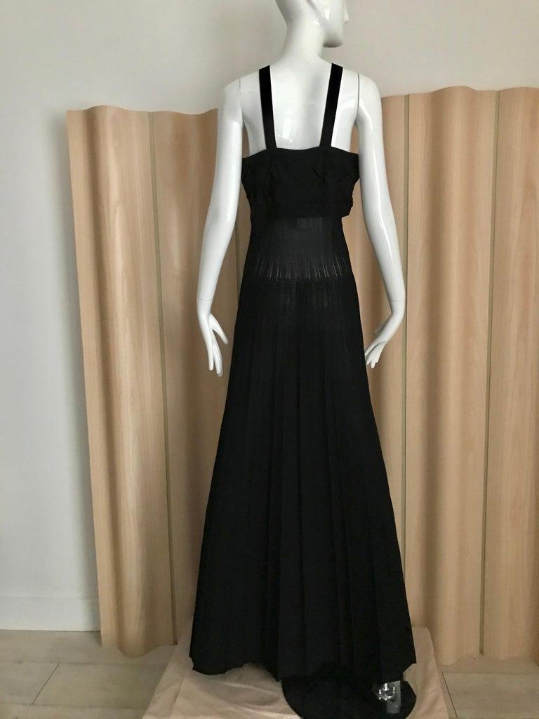 Chanel Black Knit Maxi Dress For Sale 1