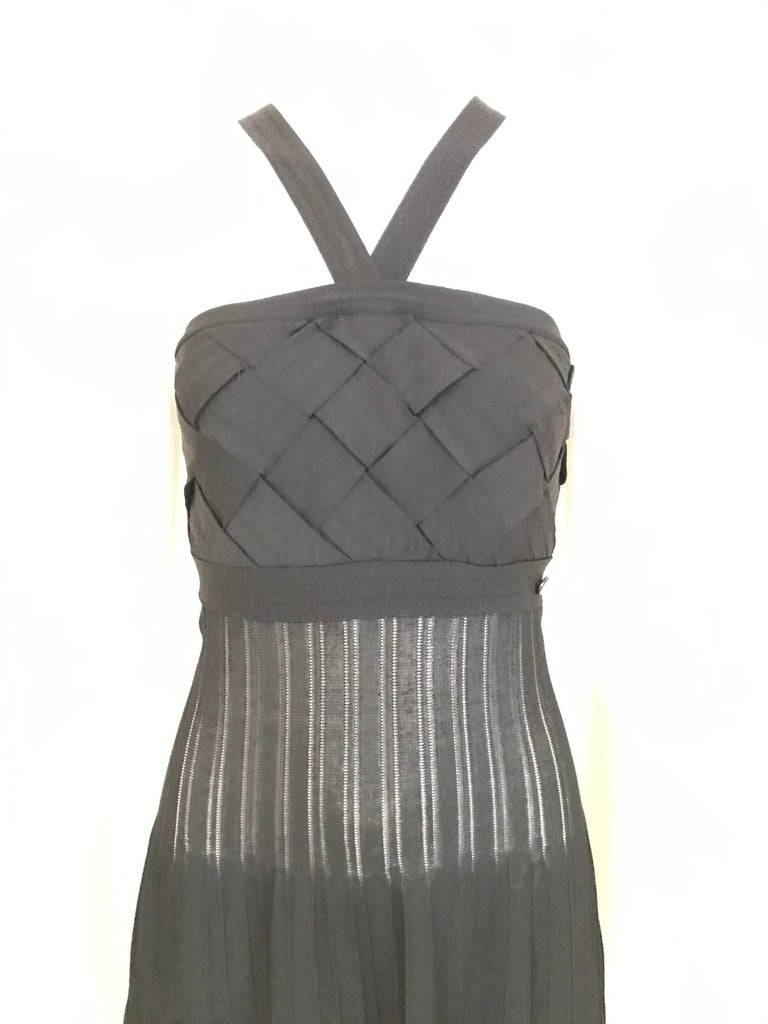 Chanel Black Knit Maxi Dress For Sale 3