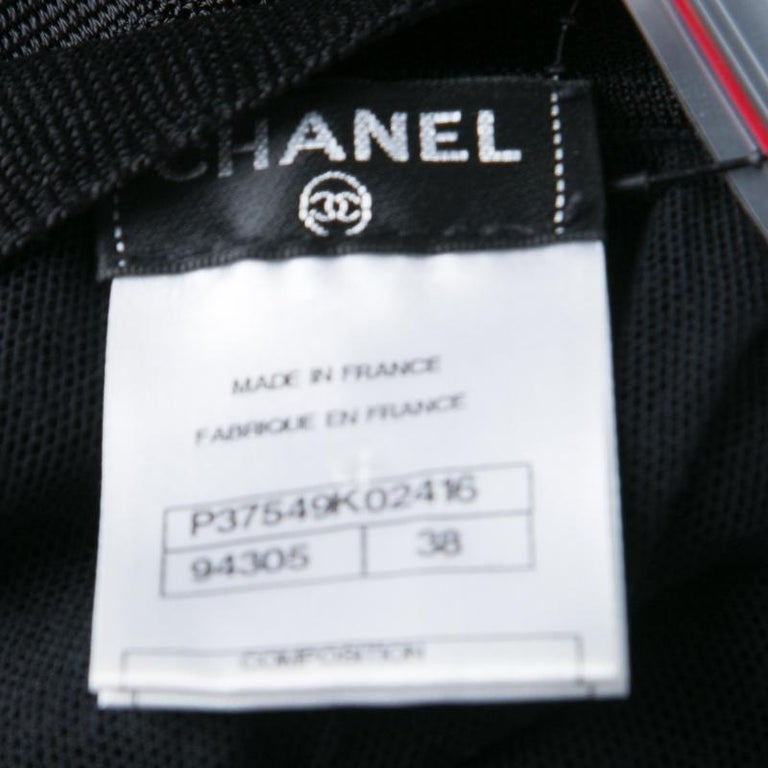 Chanel Black Knit Shoulder Button Detail Sleeveless Dress M For Sale 1